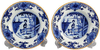 18th-C. Delft Long Eliza Plates