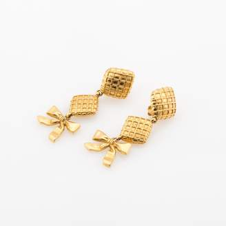 Chanel Dangle Clip Earrings (Authentic Pre Owned)