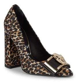 Class Roberto Cavalli Animal Print Block Heel Pumps