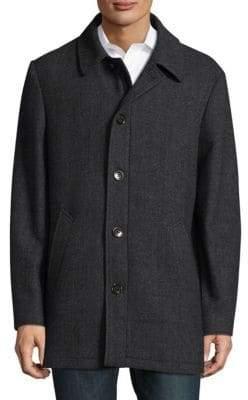 Ralph Lauren Herringbone Wool-Blend Topcoat