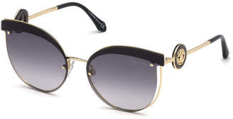 Roberto Cavalli Butterfly Cutout Metal Sunglasses