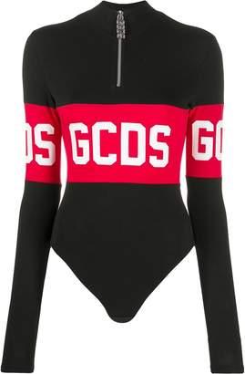 GCDS logo print turtleneck body