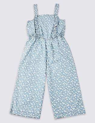 Marks and Spencer Pure Cotton Denim Jumpsuit (3-16 Years)