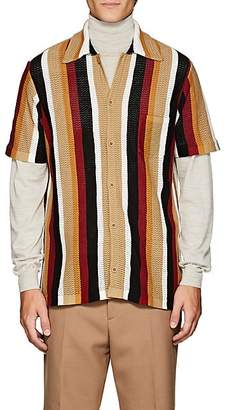 Cmmn Swdn Men's Wes Striped Cotton Shirt - Wine