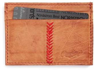 Rawlings Sports Accessories Baseball Stitch Leather Card Case