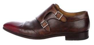 Magnanni Leather Monk Strap Loafers