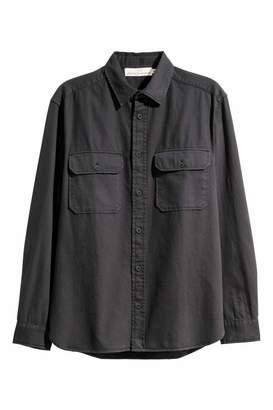 H&M Twill Utility Shirt - Beige - Men