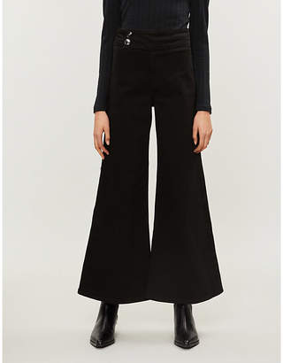 Free People Youthquake mid-rise flared cotton-twill jeans