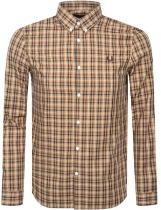 Fred Perry Twill Check Shirt Brown