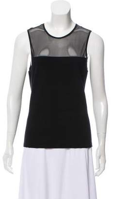Ralph Lauren Sleeveless Mesh-Accented Top