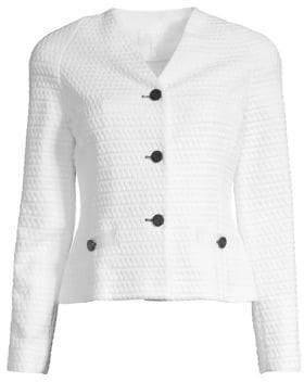 Escada Sport Byheartya Jacquard Button Front Jacket