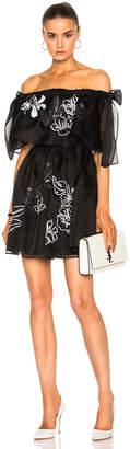 Fendi Embroidered Garden Organza Dress