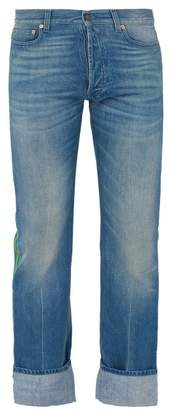 Gucci Web Side Stripe Jeans - Mens - Blue