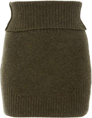 Marissa Webb Jesse ribbed wool blend mini skirt