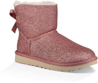 UGG Mini Bailey Bow Sparkle Genuine Shearling Boot