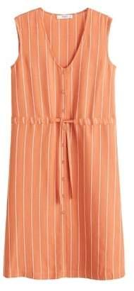 MANGO Cord striped dress