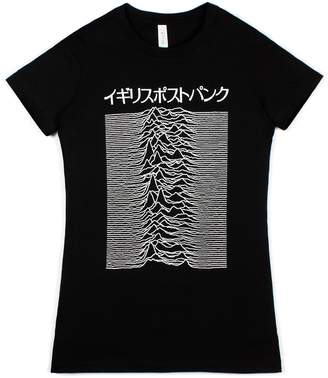 Pulsar Strand Clothing Japanese T Shirt Artwork Joy Division Used on Unknown Pleasures - British Post-Punk - Women's Ladies Shirt - L