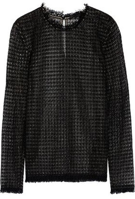 Alexander Wang Frayed Macramé Top