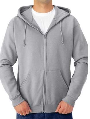 JERZEES Big Mens Soft Medium-Weight Fleece Full Zip Hooded Jacket