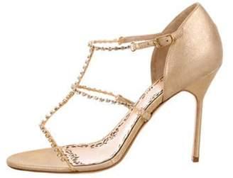 Marchesa Deena Embellished Sandals w/ Tags Gold Deena Embellished Sandals w/ Tags