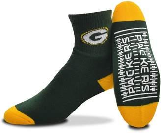 For Bare Feet Adult Green Bay Packers Slipper Socks