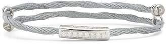 Alor Cable Bangle Bracelet with Diamonds