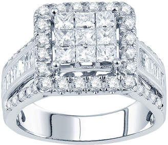JCPenney MODERN BRIDE 2 CT. T.W. Princess Diamond Deco-Style Engagement Ring