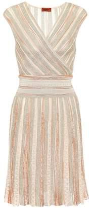 Missoni Metallic striped crochet dress