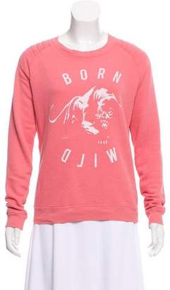 Zoe Karssen Printed Long Sleeve Sweatshirt