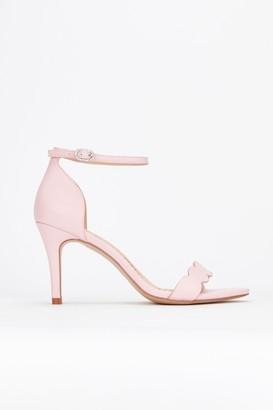 1e8646c9c6ca WallisWallis   Pale Pink Scalloped Sandal