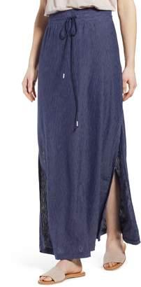 Caslon Stripe Knit Maxi Skirt