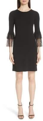 Michael Kors Lace Cuff Matte Jersey Dress