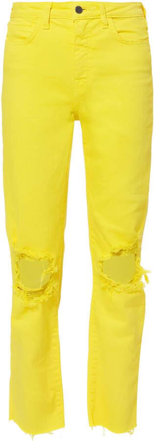 Audrina Neon Yellow Jeans