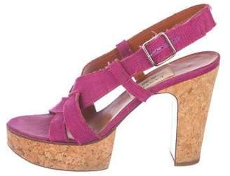 Lanvin Platform Slingback Sandals