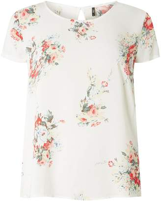 Dorothy Perkins Womens **Only White Floral Scoop Neck Top