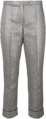 Max Mara 'S metallic jacquard trousers