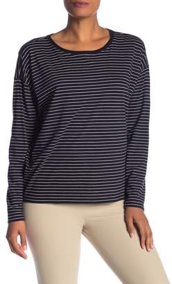 Vince Striped Drop Shoulder Long Sleeve T-Shirt