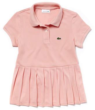 Lacoste (ラコステ) - Girls フラットプリーツ コットンプチピケ ポロシャツ