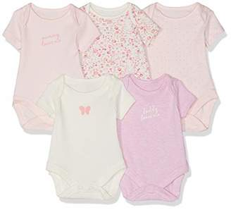Mothercare Baby Girls Mummy and Daddy Bodysuits - 5 Pack Bodysuit,(Manufacturer Size:68CM)