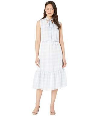 Lauren Ralph Lauren Gingham Tie Neck Dress
