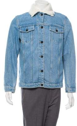 Theory Fleece-Lined Denim Jacket