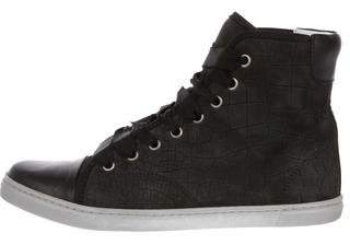 Lanvin Leather Cap-Toe Sneakers