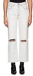 ADAPTATION Women's Distressed Wide-Leg Crop Jeans - White