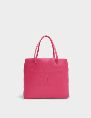 Marc Jacobs EW Logo Shopper Bag in Hydrangea Split Cow Leather