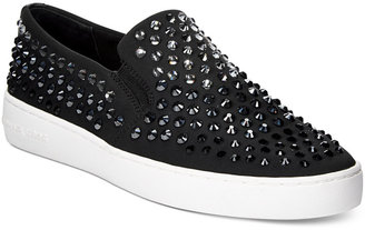 MICHAEL Michael Kors Keaton Embellished Slip-On Sneakers $125 thestylecure.com