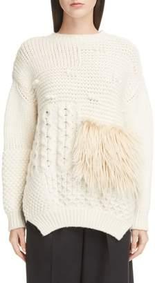 Simone Rocha Patchwork Alpaca Blend Sweater