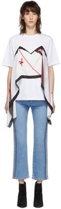 MSGM White Scarf T-Shirt