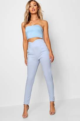 boohoo Pleated Wrap Front Trousers