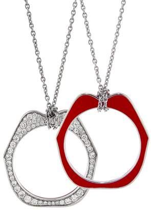 Raphaele Canot OMG Diamond Pendant Necklace - Red Enamel