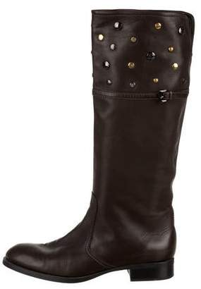 Tod's Studded Knee-High Boots